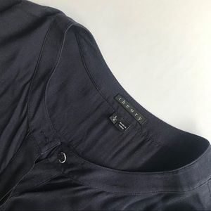 Theory navy button down blouse